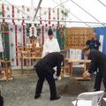 新社屋建設工事・倉庫建設工事の地鎮祭を執り行いました。|x441|348